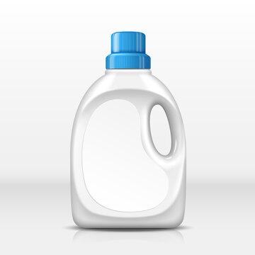 white laundry bottle