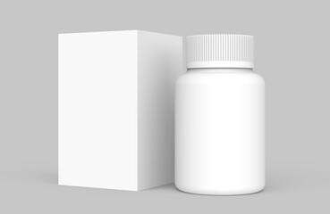 medicine bottle and box