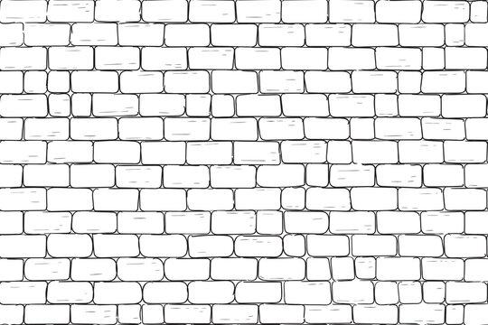 White bricks wall. Seamless pattern background