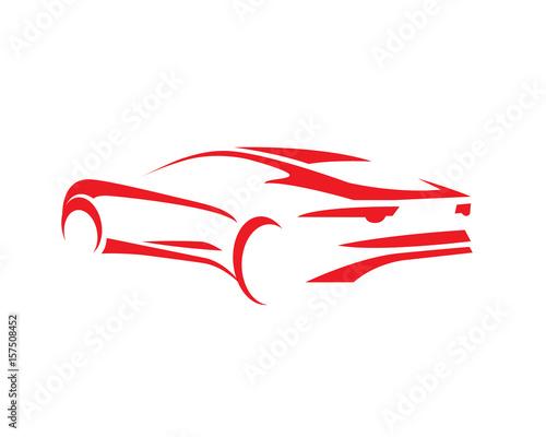 "Luxury Vehicles Logo: ""Modern Luxury Car Silhouette Logo"" Stock Image And"