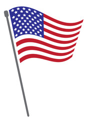 National flag waving of USA vector background or National Flag of USA with vector illustration design