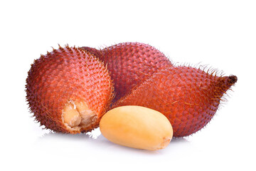 salak fruit,salacca zalacca,tropical fruit isolated on white background