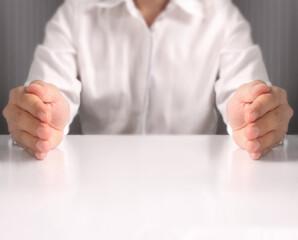 Open palm hand gesture
