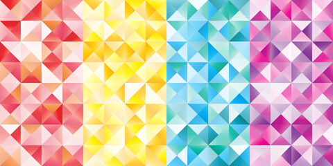 Background with the colored Triangle in a vector.Triangle Abstract Pattern