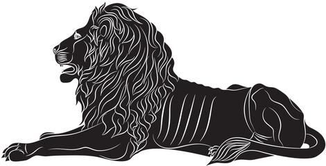 The Couchant lion - the heraldic symbol
