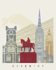 Wall Mural - Coventry skyline poster