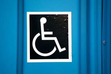 Disabled. Logo. Blue. Symbol.