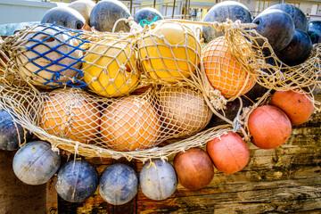 buoys and fishing nets