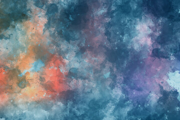 Abstract watercolor background. Colorful texture. Oil painting style.