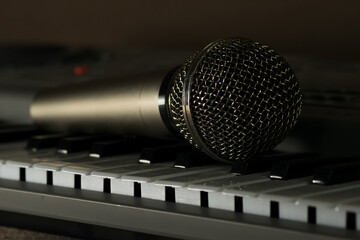Music microphone and piano keys