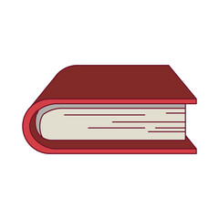 colorful graphic of thick book vector illustration