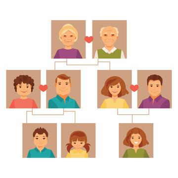Family tree. Vector illustration