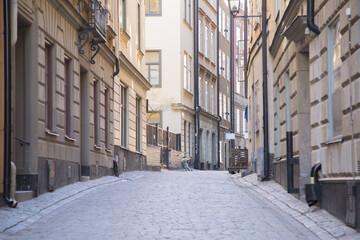 Empty Street; Old Town; Gamla Stan; Stockholm