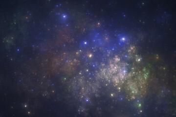 Deep space starfield, fantasy universe illustration