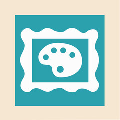 Vector icon for gallery with art frame