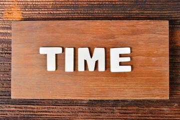 Time Text Buchstaben