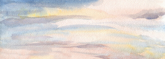 sky, pink, yellow, clouds, vector background