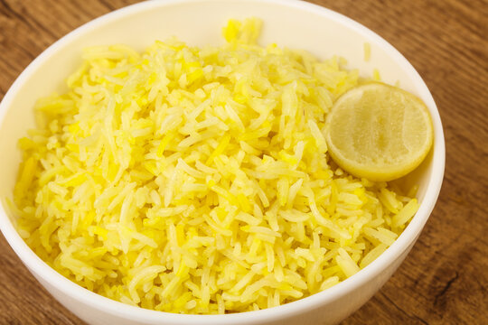 Yellow rice with lime