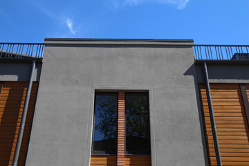 Modern house with wood facade