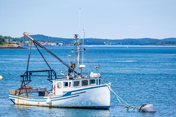 Lobster Boat at Anchor