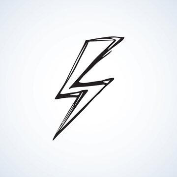 Symbol of lightning. Vector illustration