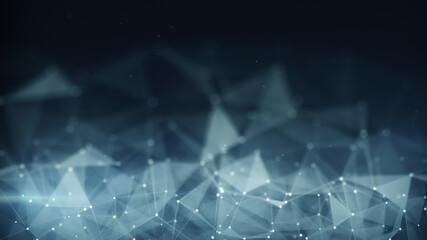 Futuristic network shape abstract techno background