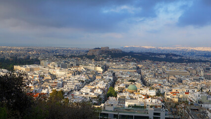 Photo from Lycabettus hill with panoramic view to Athens, Attica, Greece
