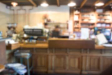 Blurred or defocus image of coffee shop