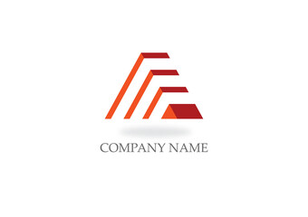 triangle stripe pyramid company logo