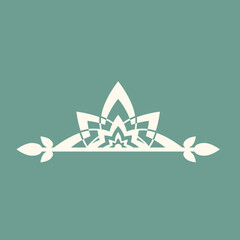 Vector illustration of logo for yoga studio or meditation class.
