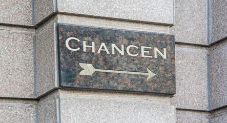 Schild 204 - Chancen