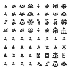 People Icon work group Team Vector Set