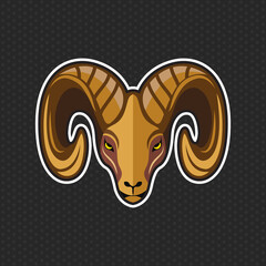 Goat logo design template ,Goat head icon Vector illustration
