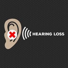 Hearing Loss illustration logo vector icon design