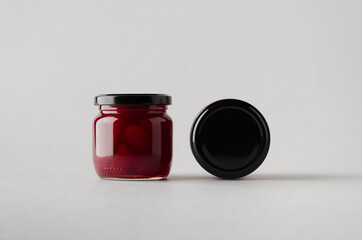 Strawberry Preserves Jar Mock-Up - Two Jars