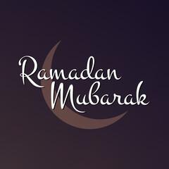 Sketch Illustration for Ramadan Kareem Arabic text