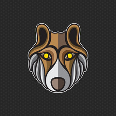 wolf logo design template ,wolf head icon Vector illustration