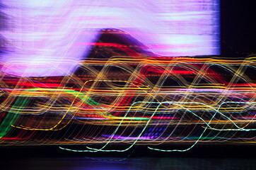 Abstract Light Trails at Night