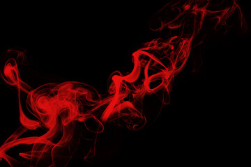 Red Smoke on black background, darkness concept