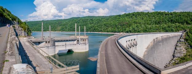 Aluminium Prints Dam Barrage de retenue du lac de Vouglans