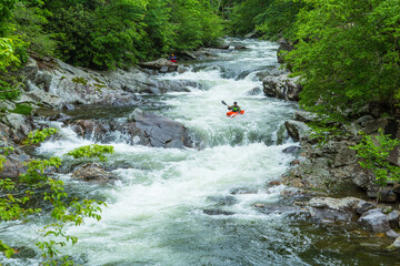 Kayak Rider At The Sinks In Smoky Mountains Wall mural