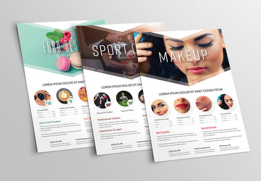 Fitness and Lifestyle Flyer Layout Set 1