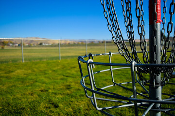 Metal Frisbee Golf Basket