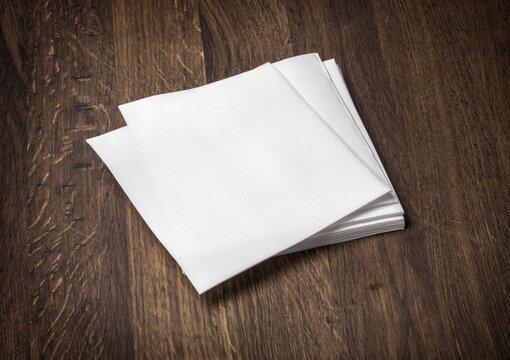 white paper napkin on  table