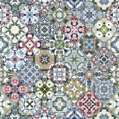 Vector set of square seamless patterns.