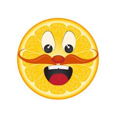 orange face