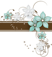 Abstract floral banner for design