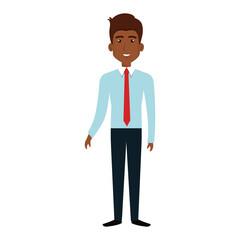 elegant businessman black avatar character vector illustration design