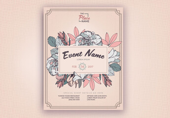 Pastel Floral Event Poster Layout