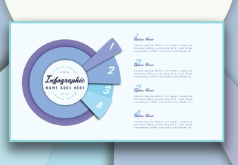 Blue Circle Infographic Layout